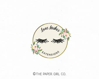 lashes logo design false lashes logo lash extensions logo beauty logo premade logo lash logo make-up artist logo premade beauty salon logo