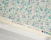 Restocked! Sevenberry Petite Garden Aqua Blue Green Small Florals Japanese Cotton Fabric SB-6163D3-3 AQUA