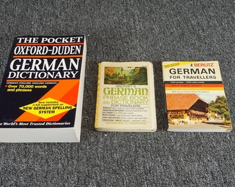 Vintage Set Of Three German Language Books