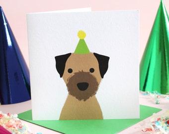 Birthday Border Terrier Card