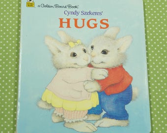 1995 Toddler Little Golden Board Book Hugs