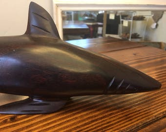 Hand carved Shark - Ironwood