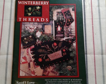 Winterberry Threads Need'l Love Renee Nanneman Various Needle Craft Pattern Book