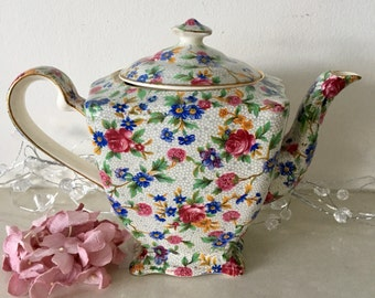 Vintage, Royal Winton 'Old Cottage Chintz' Teapot