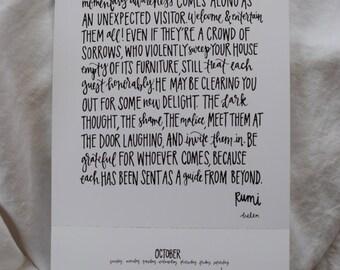"""Rumi 8""""x10"""" Print"""