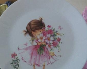 Flower girl plate