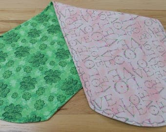 Reversible Valentines and St. Patricks Day Holiday Table Runners