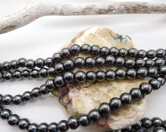 50 Round hematite beads non-magnetic different dimensions / gem bead / gem bead for jewelery creation