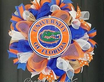 Florida Gators  Wreath; Gators Wreath; College Football