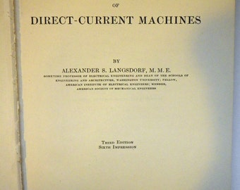 Principles of Direct-Current Machines by Alexander S Langsdorf