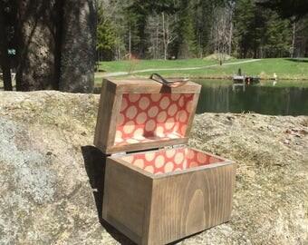 handmade wooden Recipe box with spoon 4x6