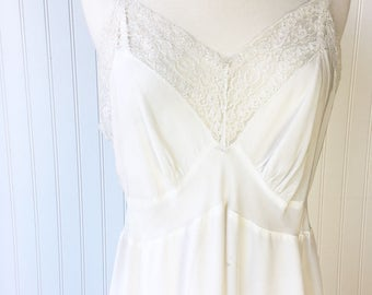 White Slip Dress with Lace