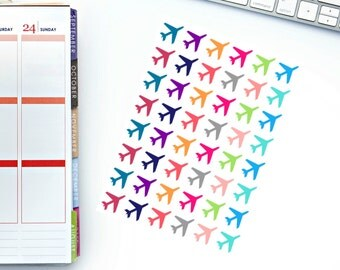 Small Airplane Planner Stickers! Perfect for your Erin Condren Life Planner, calendar, Paper Plum, Filofax!