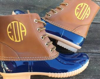 Monogrammed Duck Boots!!