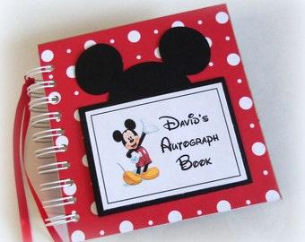 PERSONALIZED Disney Autograph Book Scrapbook Travel Journal Vacation Photo Album