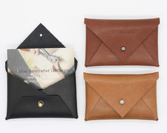 Leather business card holder or wallet