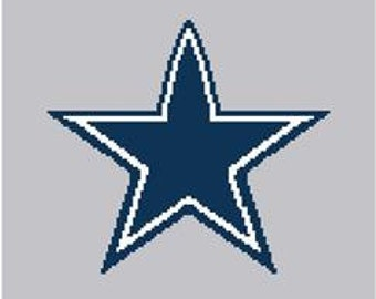 Dallas Cowboys Lapghan Digital Crochet Pattern