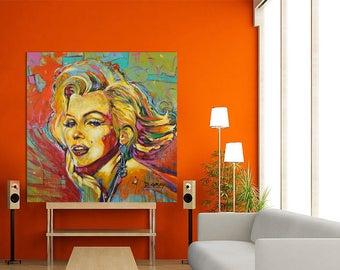 Marilyn Monroe, Acrylic Painting, Pop Art, Hollywood, Marilyn Monroe Art, Large, Modern Painting, Modern Art