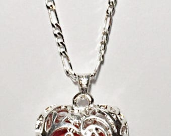 Hollow Heart Pendant Necklace ON SALE