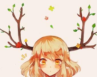 """Hello Deer 11""""x17"""" Poster Print"""