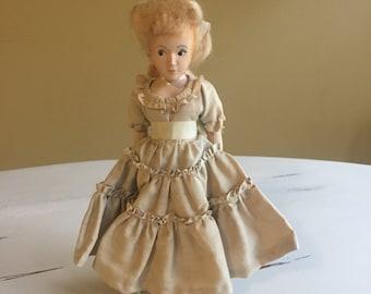 Vintage Knickerbocker Hard Plastic Doll