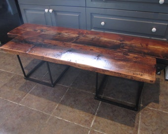 Handmade wooden bench antique wood