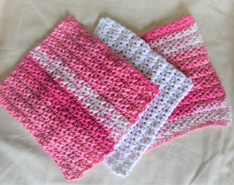 Crocheted Cotton Dish Cloth ~ Set of 3