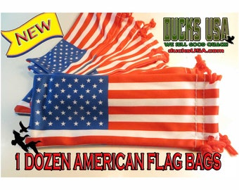 Duck Call or Goose Call Bags Premium Microfiber American Flag Call Bags Limited Supply