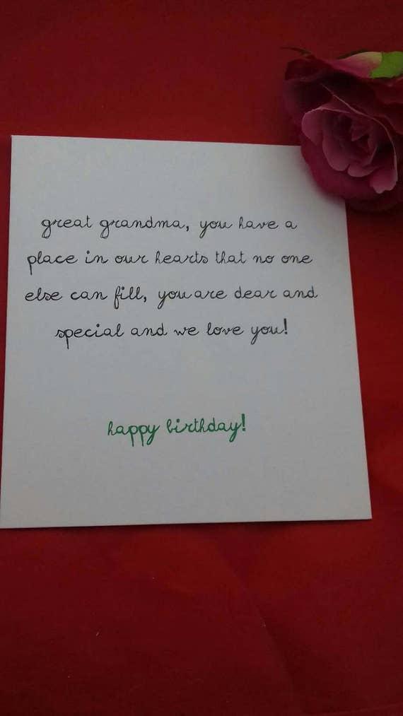 happy birthday great grandma card great grandmother cards