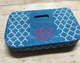 Personalized Casserole Carrier, Monogram Canvas Casserole Cover, Embroidered Casserole Case, Personalized Casserole Case,