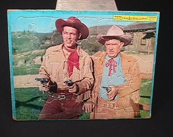 Vintage Picture Puzzle of Wild Bill Hickok and Jingles by Built-Rite in Ready to Use Condition