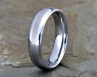 Tungsten Wedding Band, Mens Ring, Mens Wedding Band,Tungsten Ring, Domed, 6mm, FREE Custom Engraving, Anniversary, His Hers rings