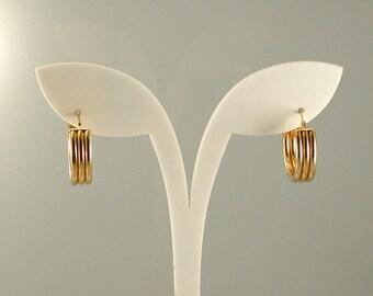 14K Yellow Gold Hoop Earrings,  Gold Hoops,