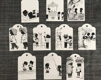 Jip and Janneke paper cardbord tags - 10 pcs