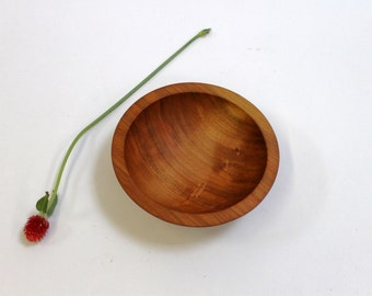 "6"" Cherry Wooden Bowl, Small Wooden Bowl, Food Safe Wooden Bowl, Hardwood Bowl, Solid Bowl, Cherry Wood"