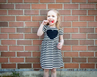 Heart Patch Dress - Toddler Dress - Baby Dress - Girls Dress - Toddler Outfit - Baby Outfit - Baby Gift Idea - Toddler Clothes