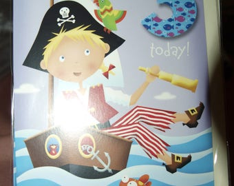 3 Today Birthday Card  Pirate in a Boat