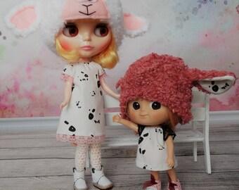 """all ' cute sheep"" for doll Blythe bjd tiny 15-16cm type Lati Yellow, mini Mui Chan"