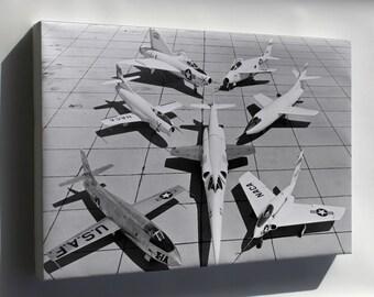 Canvas 24x36; 1St Gen X-Planes X-3 X-1A D-558-1 Xf-92A X-5 D-558-2 X-4 1953
