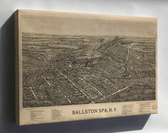Canvas 24x36; Birdseye View Map Of Ballston Spa, N.Y 1890