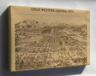 Canvas 24x36; Map Of Great Western Central City Colorado 1887