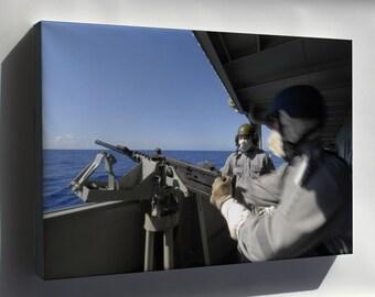 Canvas 24x36; Hmas Tobruk Machine Gun