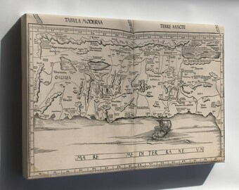 Canvas 24x36; Map Of Israel 1513