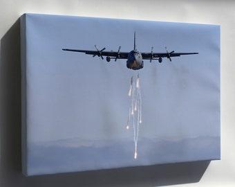 Canvas 24x36; C-130 Hercules P2 C-130E