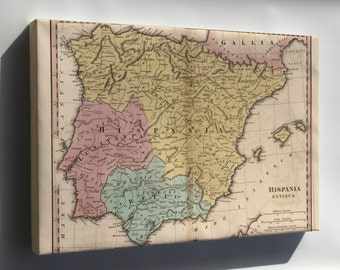 Canvas 24x36; Map Of Spain In Antiquity 1826