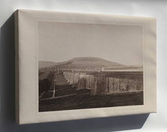 Canvas 16x24; Reservoir Du Grosbois France 1883