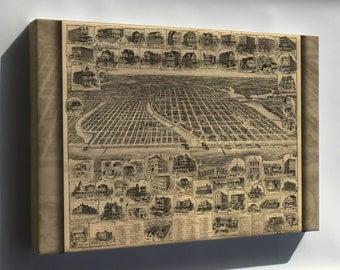 Canvas 16x24; Map Of Asbury Park Ocean Grove New Jersey 1897