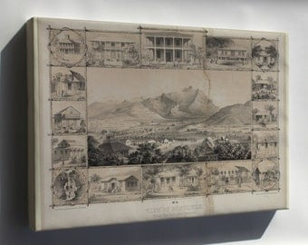 Canvas 16x24; No. 6. View Of Honolulu. From The Catholic Church. (C. 1854) #031215