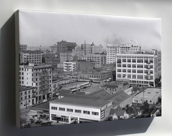 Canvas 16x24; Panoramic View Of Downtown Los Angeles, Looking East With The 8Th Street And Olive Street Intersection In View, Ca.1910 1913 (