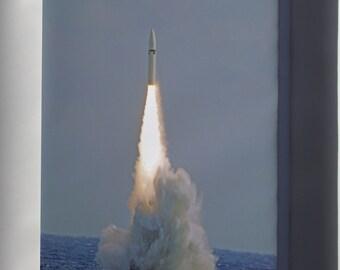 Canvas 16x24; Ugm-27 Polaris A-3 Missile Launch